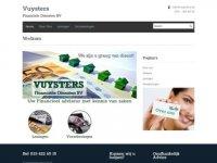 Screenshot van vuysters.nl