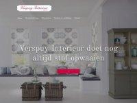 Screenshot van verspuy.nl