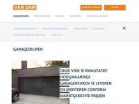 Screenshot van vandamgaragedeuren.nl