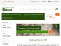 Screenshot van zaadhandelvanderwal.nl
