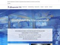 Screenshot van glasspecialist.nl