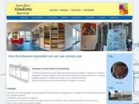 Screenshot van hansbuiskeukens.nl