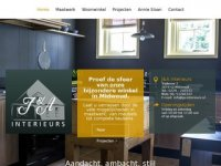 Screenshot van ja-interieurs.nl