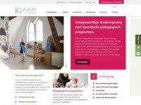 Screenshot van kindergarden.nl