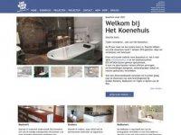 Screenshot van koenehuis.nl