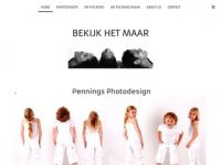 Screenshot van penningsphotodesign.nl