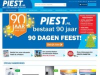 Screenshot van piest.nl