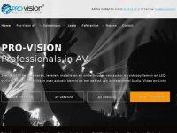 Screenshot van pro-vision.nl