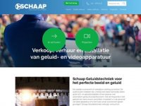 Schaap Geluidstechniek, Video, Beamer en ...