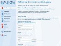 Screenshot van taxijappie.nl