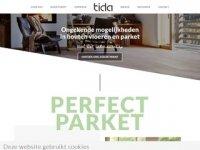 Screenshot van tida.nl