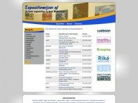 Screenshot van expositiewijzer.nl