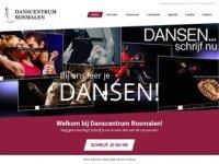 Screenshot van danscentrumrosmalen.nl
