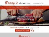 Screenshot van bennys.nl