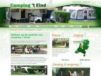 Screenshot van campingteind.nl