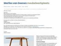 Screenshot van marliesvangeenen.nl