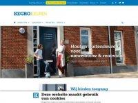 Screenshot van kegro.nl