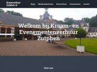 Kraam- en evenementenverhuur Zutphen