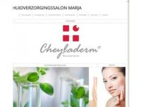 Screenshot van huidverzorgingssalonmarja.nl