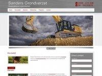 Screenshot van sanders-grondverzet.nl