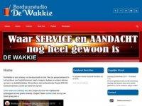 Screenshot van dewakkie.nl