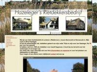 Screenshot van hazelegersrietdekkersbedrijf.nl