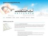 Screenshot van donsdekbedden.nl