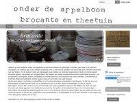 Screenshot van brocante-theetuin.nl