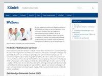 Screenshot van kliniekprijzen.nl