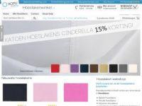 Screenshot van hoeslakenwinkel.nl