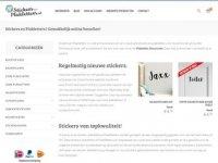 Stickers en Plakletters | online belettering