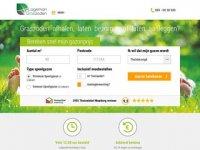 Screenshot van graszodengelegd.nl