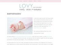 Screenshot van lovy.nl/collectie-lovy/babysieraden
