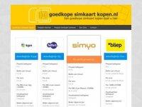 Screenshot van goedkopesimkaartkopen.nl