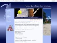 Screenshot van sportmassageinvlaardingen.nl