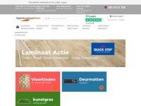 Screenshot van tapijtenlaminaatdirect.nl