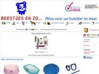 Screenshot van beestjesenzo.nl