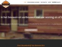 Screenshot van bouwbedrijfvanbemmel.nl