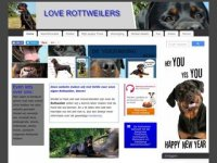 Screenshot van love-rottweilers.nl