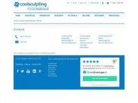 Screenshot van coolsculptingkliniek.nl/vestigingen/blaricum
