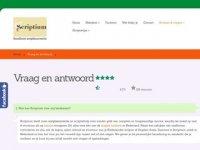 Screenshot van scriptium.nl/scriptie-corrigeren-vraag-en-antwoord