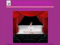 Screenshot van balletstudiodanstique.nl